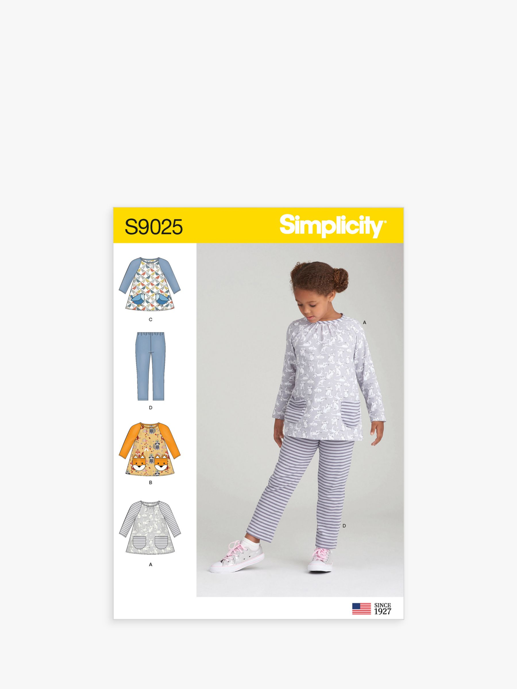 Simplicity Simplicity Children's Top and Legging Sewing Pattern, 9025, A