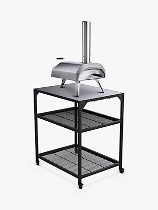 Ooni Medium Modular Outdoor Kitchen Table/BBQ Trolley, Black