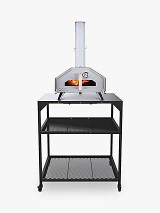 Ooni Large Modular Outdoor Kitchen Table/BBQ Trolley, Black
