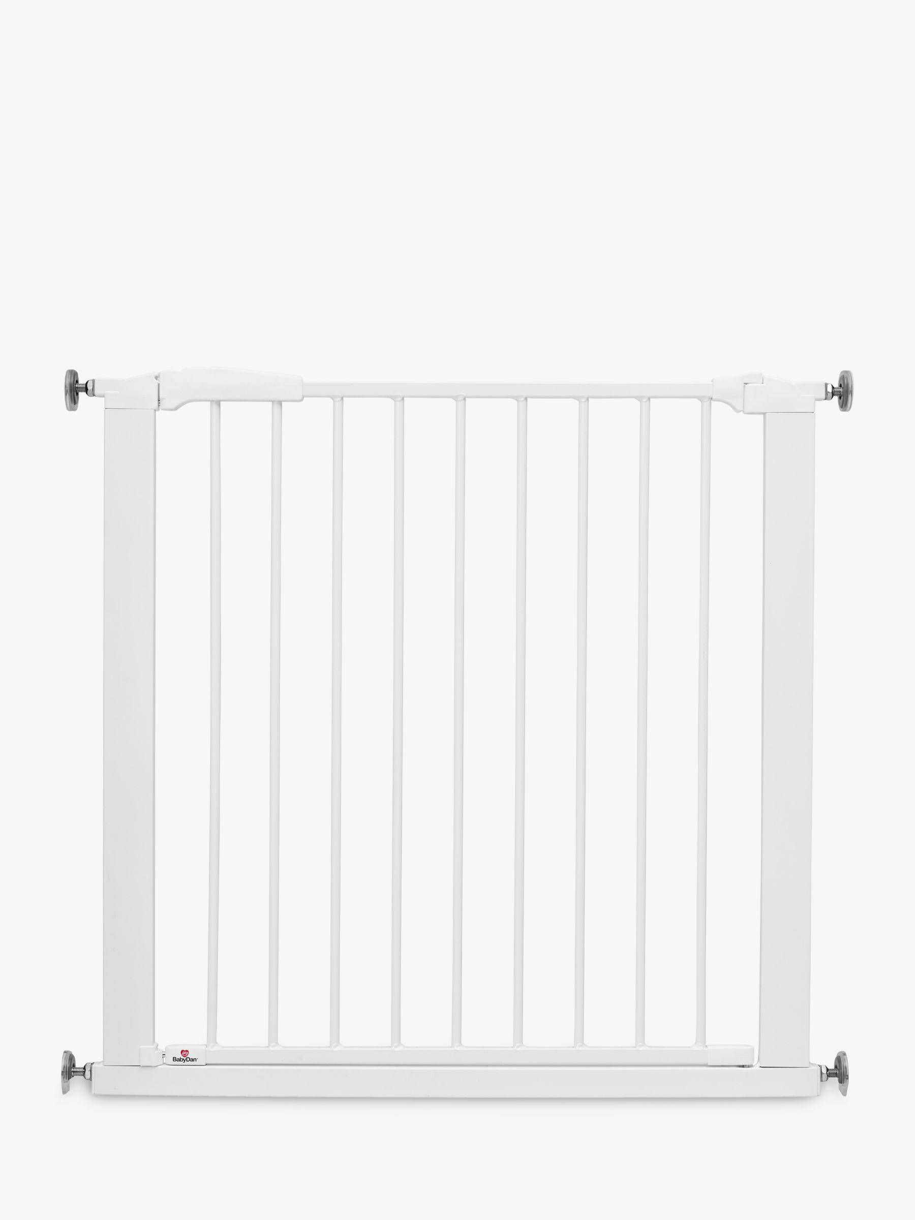BabyDan BabyDan Perfect Close Extra Wide Swing Shut Safety Gate, White