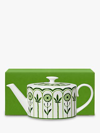 William Edwards Sultan's Garden Gift-Boxed Teapot, 550ml, Green/White