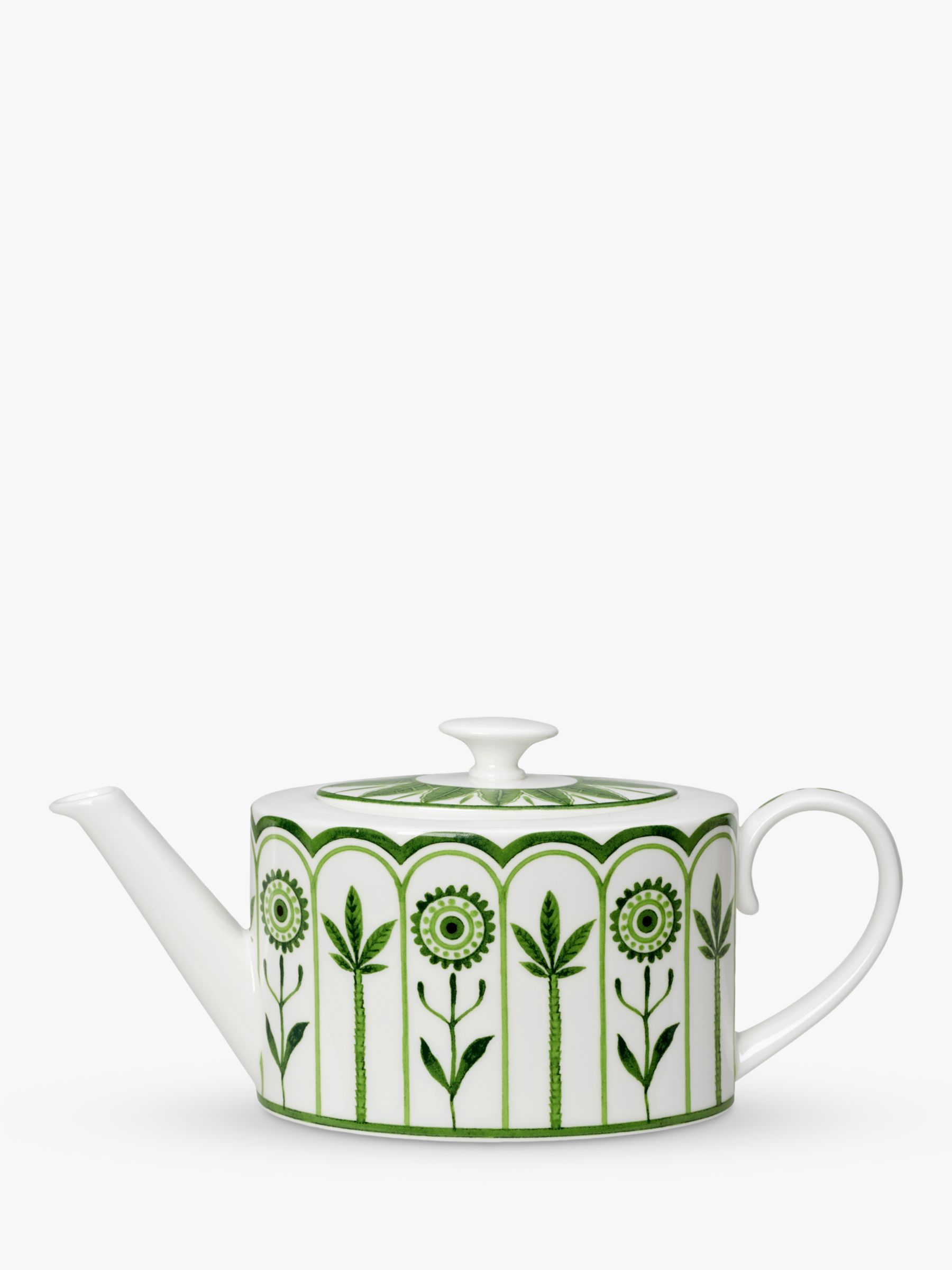 Buy William Edwards Sultan's Garden Gift-Boxed Teapot, 550ml, Green/White Online at johnlewis.com