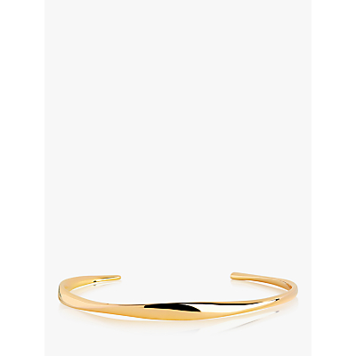 Sif Jakobs Jewellery Irregular Open End Bangle, Gold