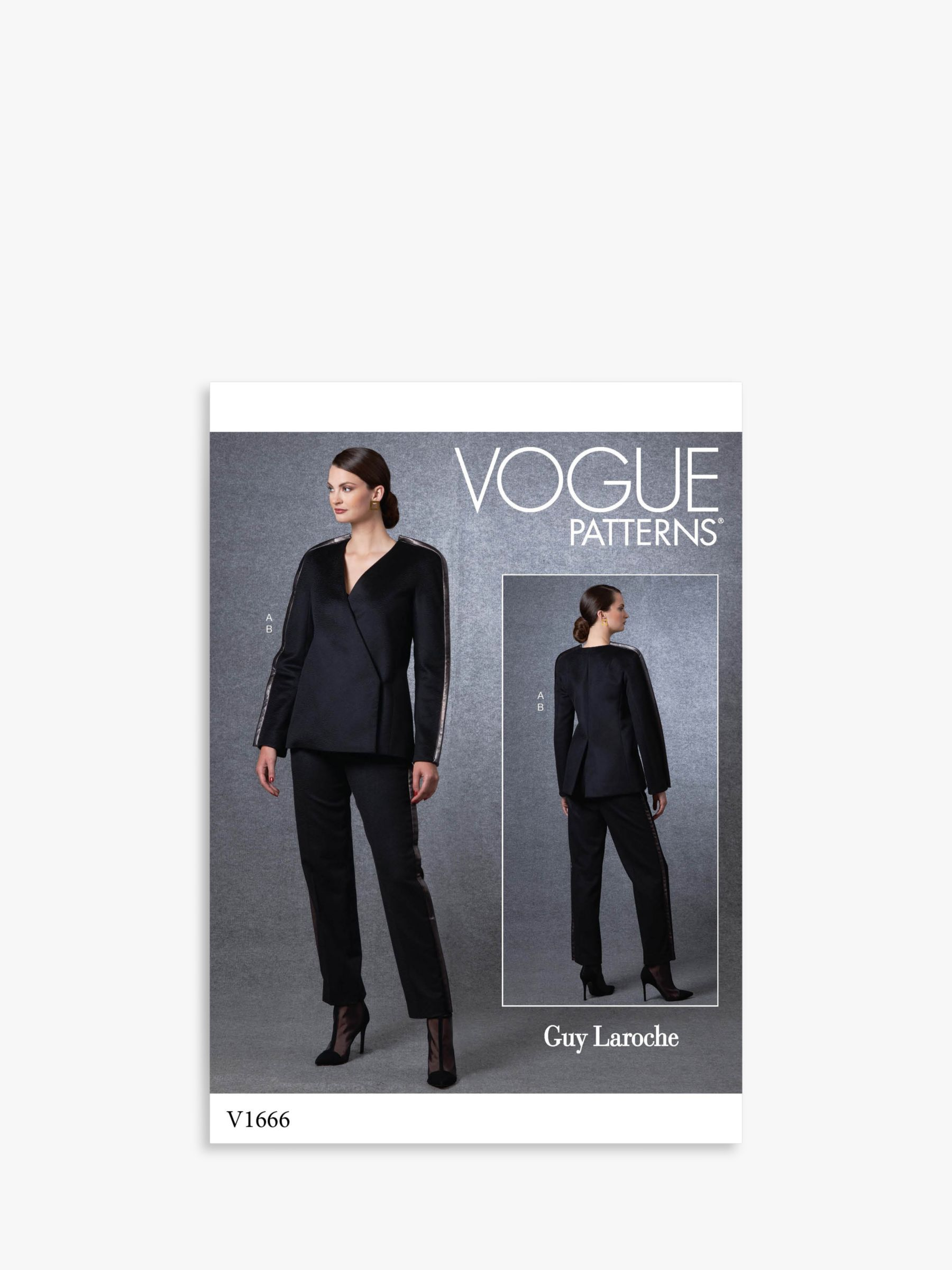 Vogue Vogue Women's Jacket and Trousers Sewing Pattern, 1666