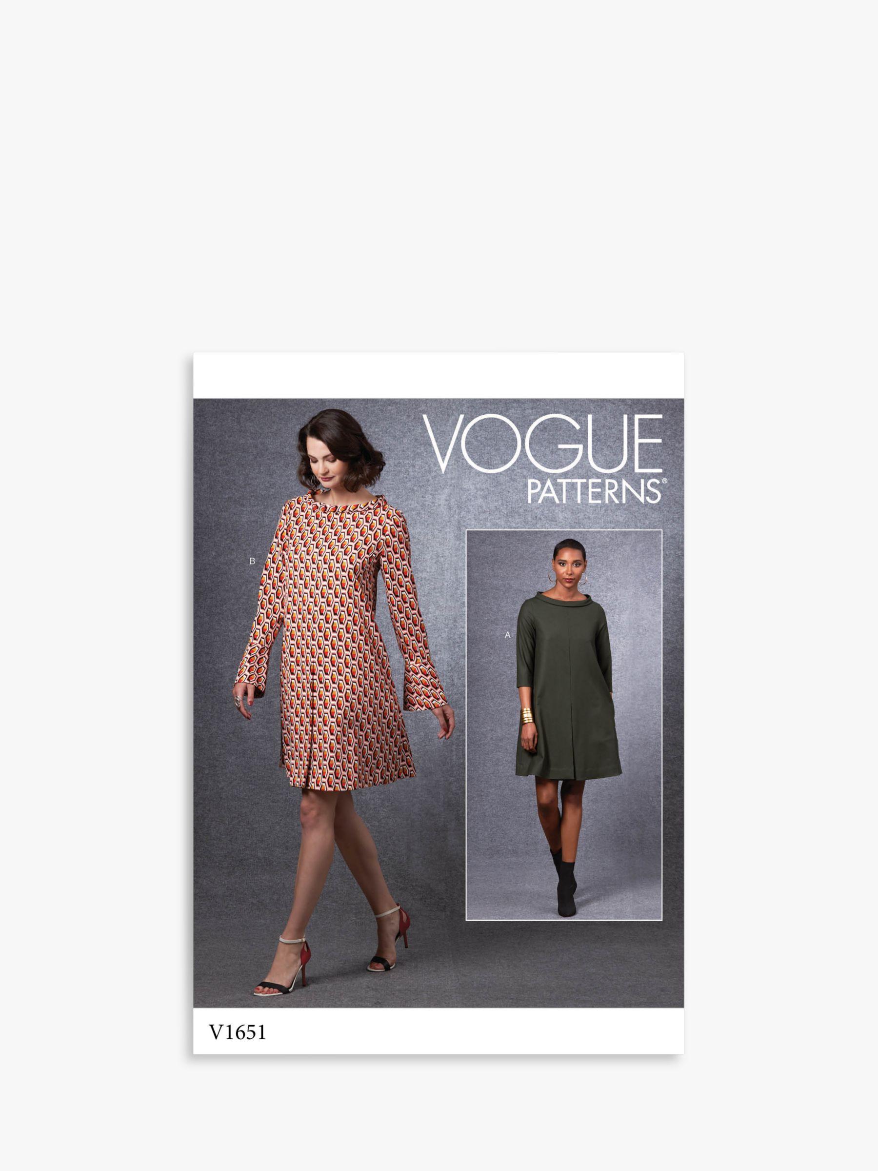Vogue Vogue Women's Dress Sewing Pattern, 1651
