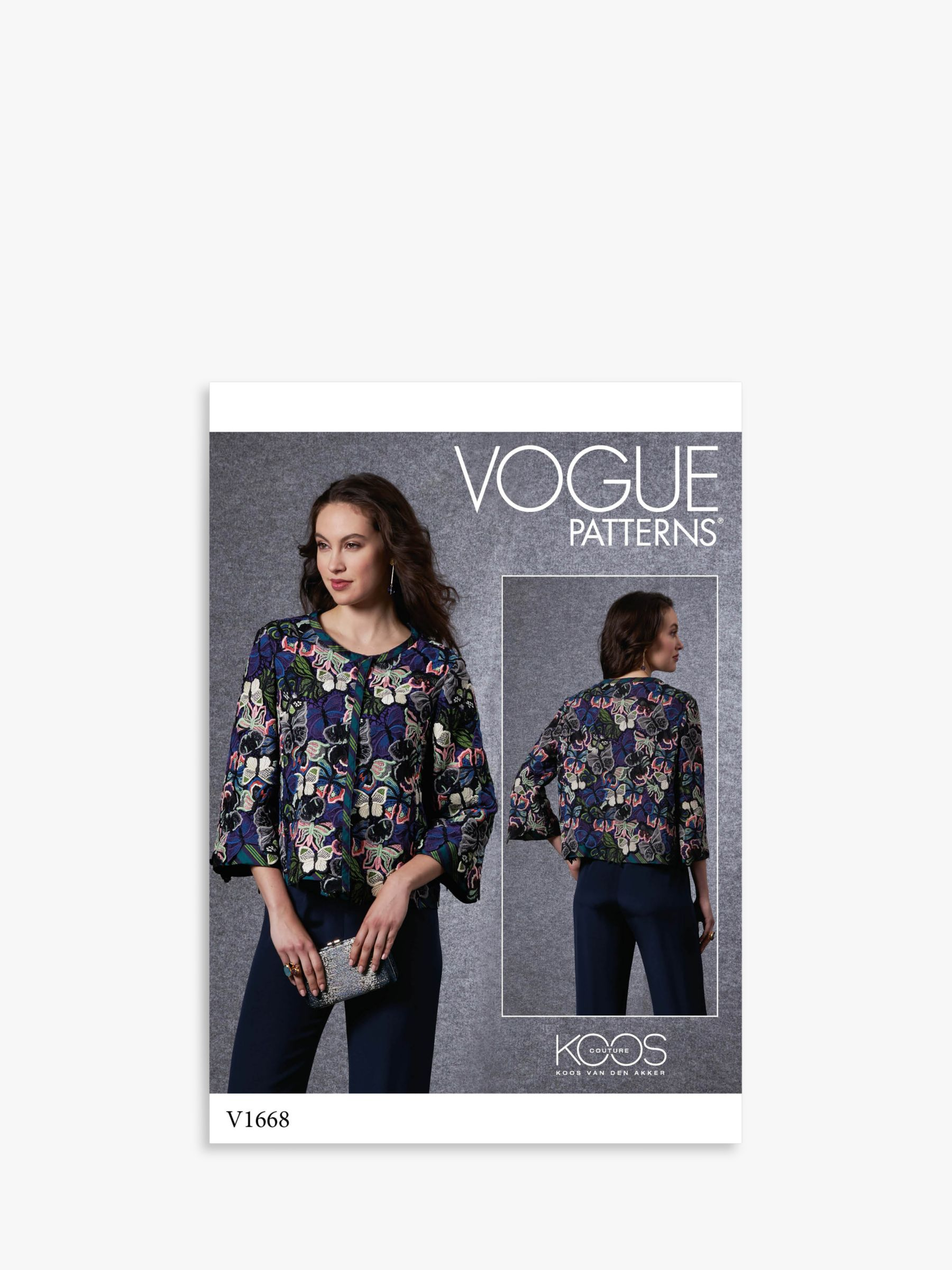 Vogue Vogue Women's Fitted Jacket Sewing Pattern, 1668