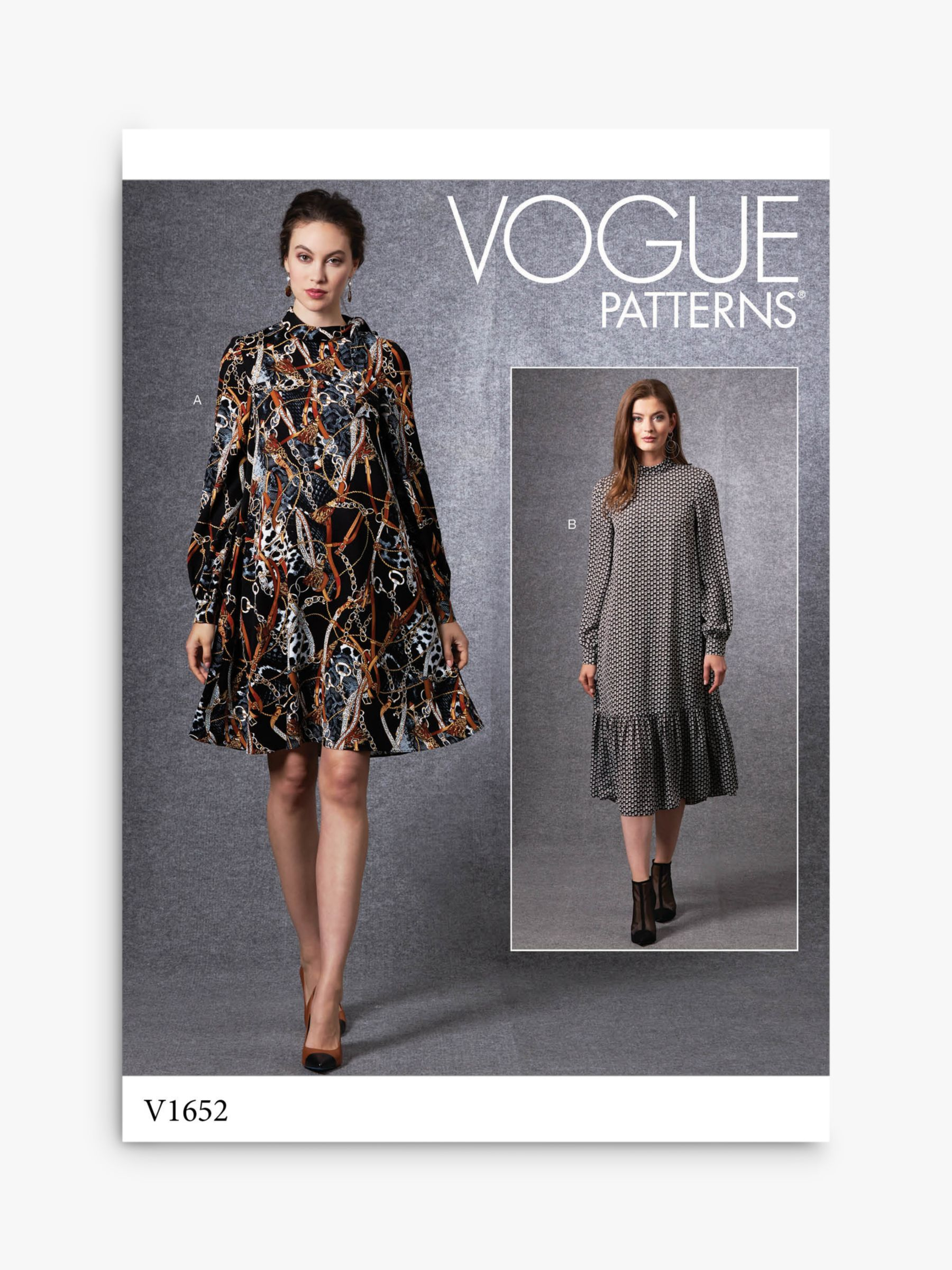 Vogue Vogue Women's Dress Sewing Pattern Pattern, 1652