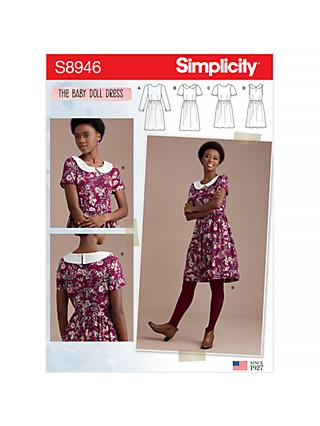 Simplicity Women's Collared Skater Dress Sewing Pattern, 8946