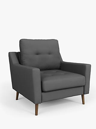 Sofi Range, Sofi 'Sofa in a Box' Armchair, Dark Leg, Charcoal Grey