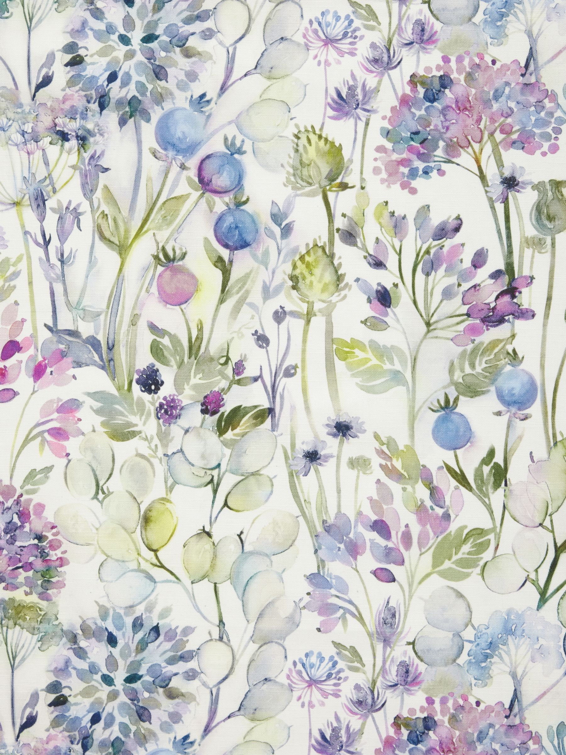 Voyage Voyage Country Hedgerow Furnishing Fabric, Lilac Cream