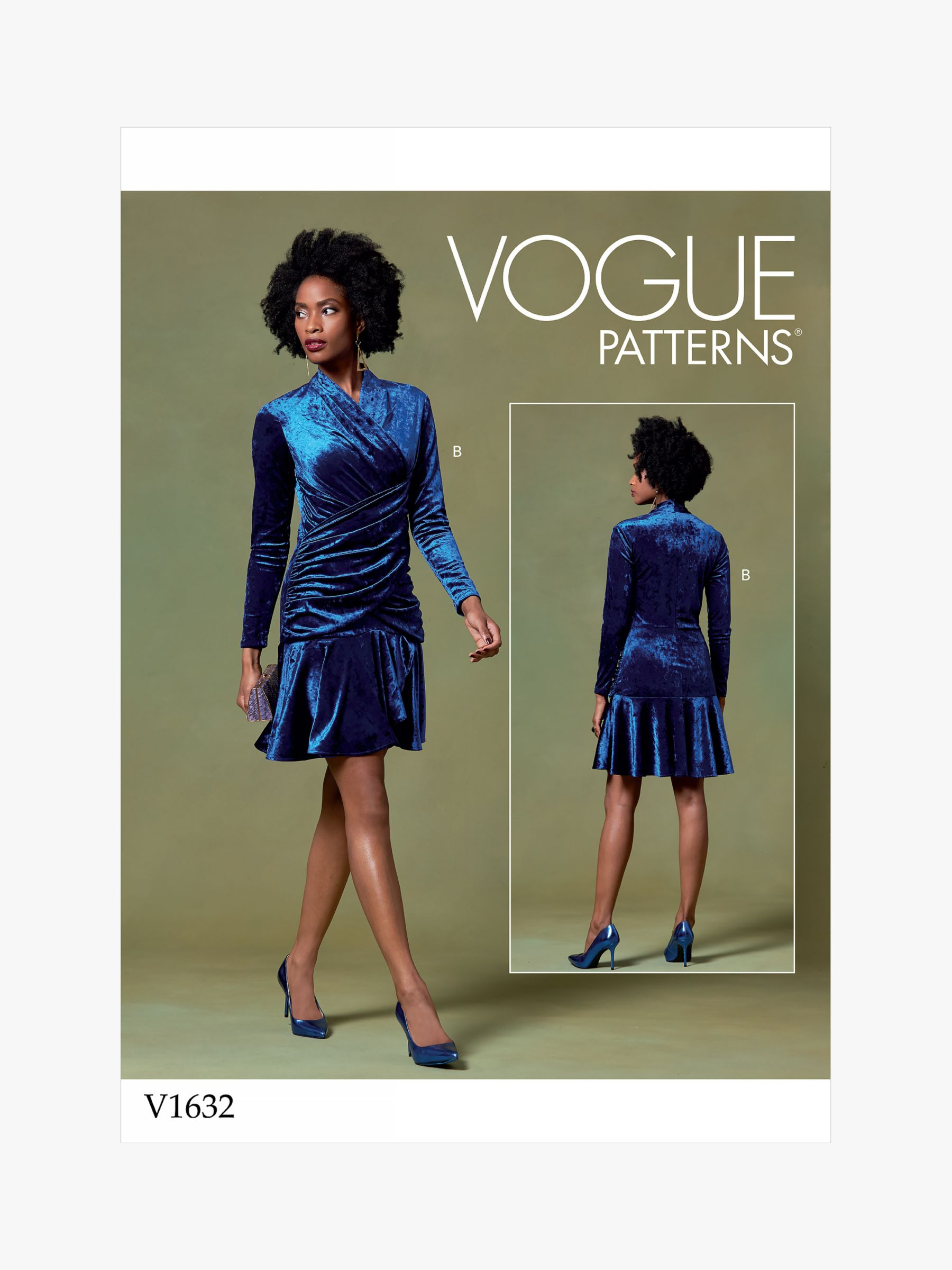 Vogue Vogue Women's Wrap Top and Dress Sewing Pattern, 1632
