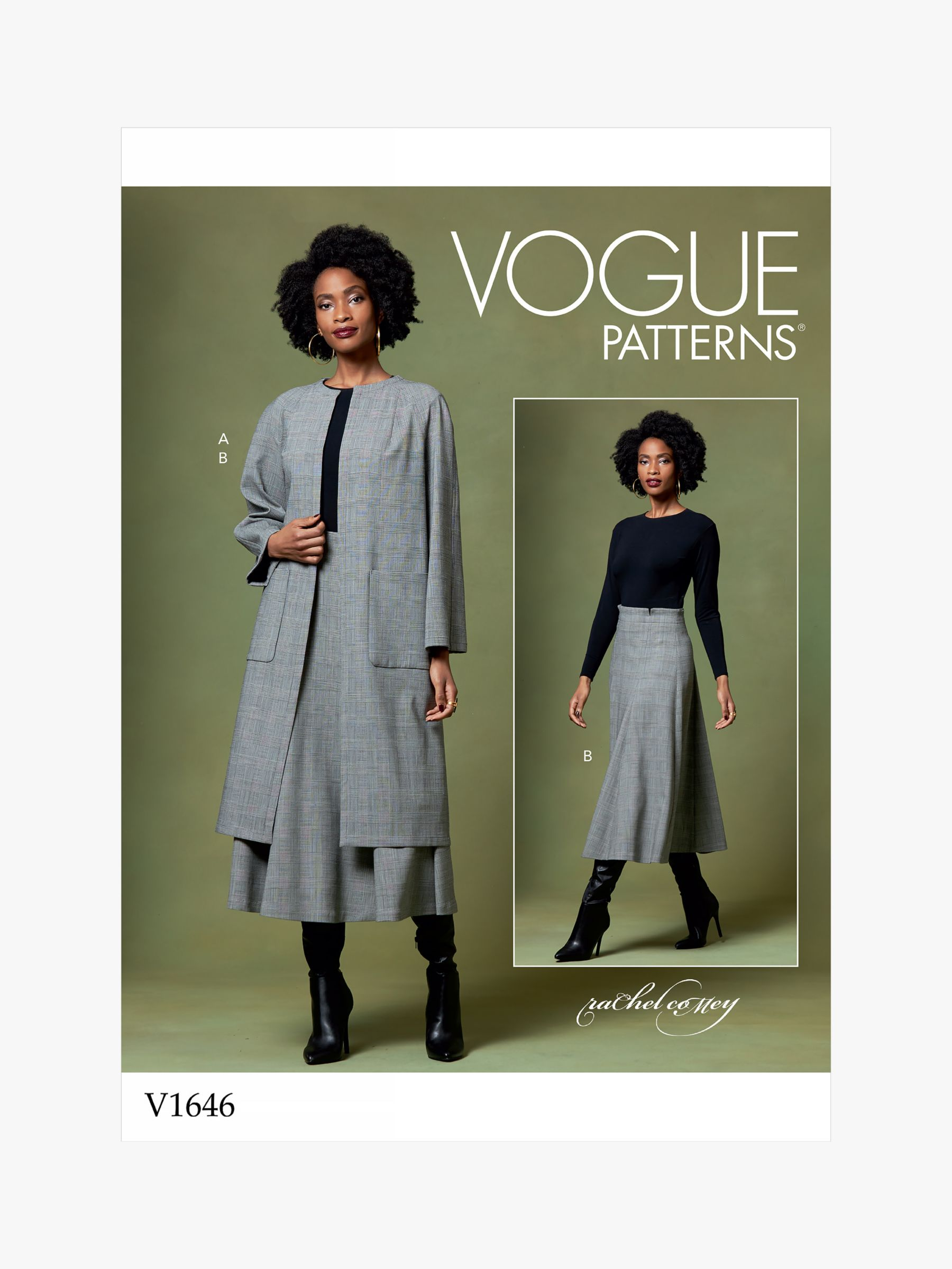 Vogue Vogue Women's Coat and Skirt Sewing Pattern, 1646