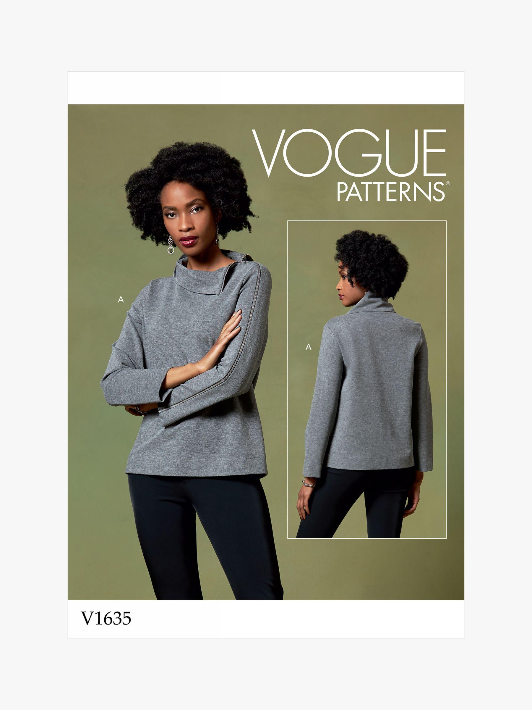 Vogue Vogue Women's Stand Collar Top Sewing Pattern, 1635