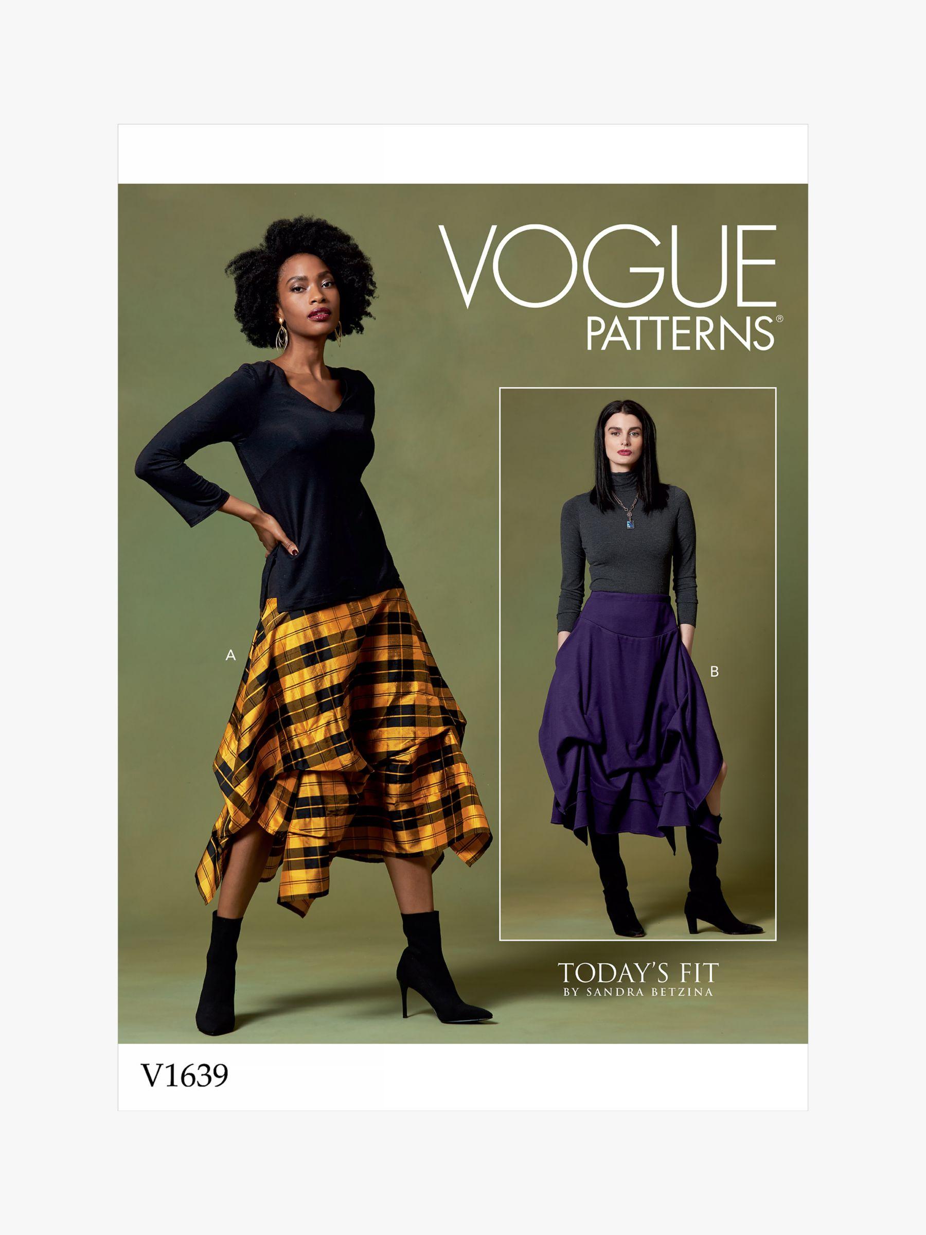 Vogue Vogue Women's Skirt Sewing Pattern, 1639