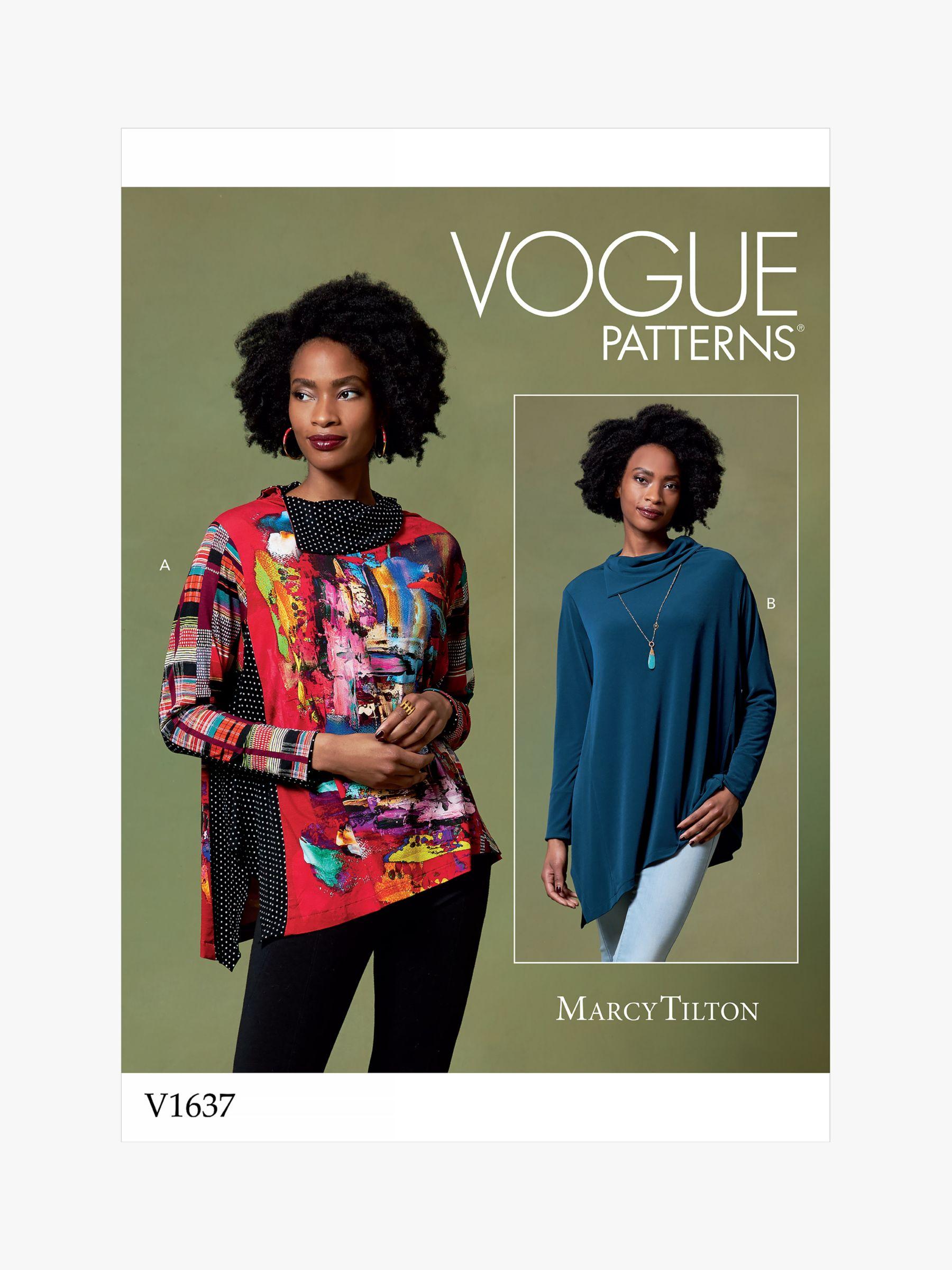 Vogue Vogue Women's Asymmetrical Top Sewing Pattern, 1637
