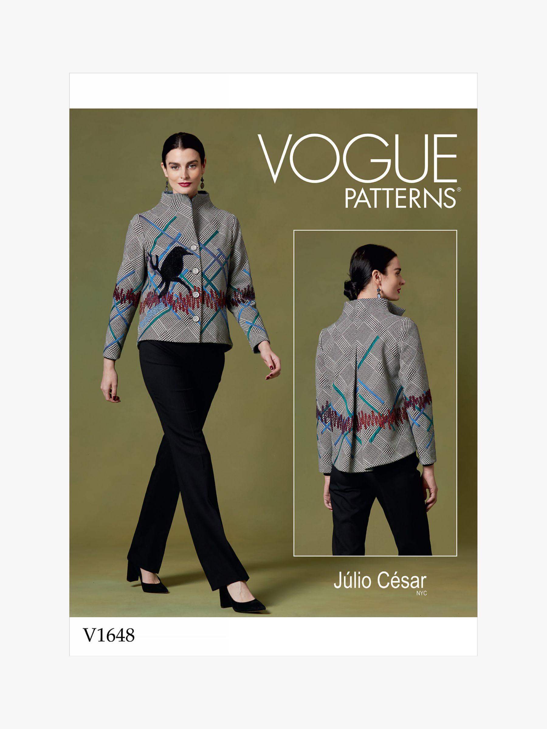 Vogue Vogue Women's Jacket Sewing Pattern, 1648