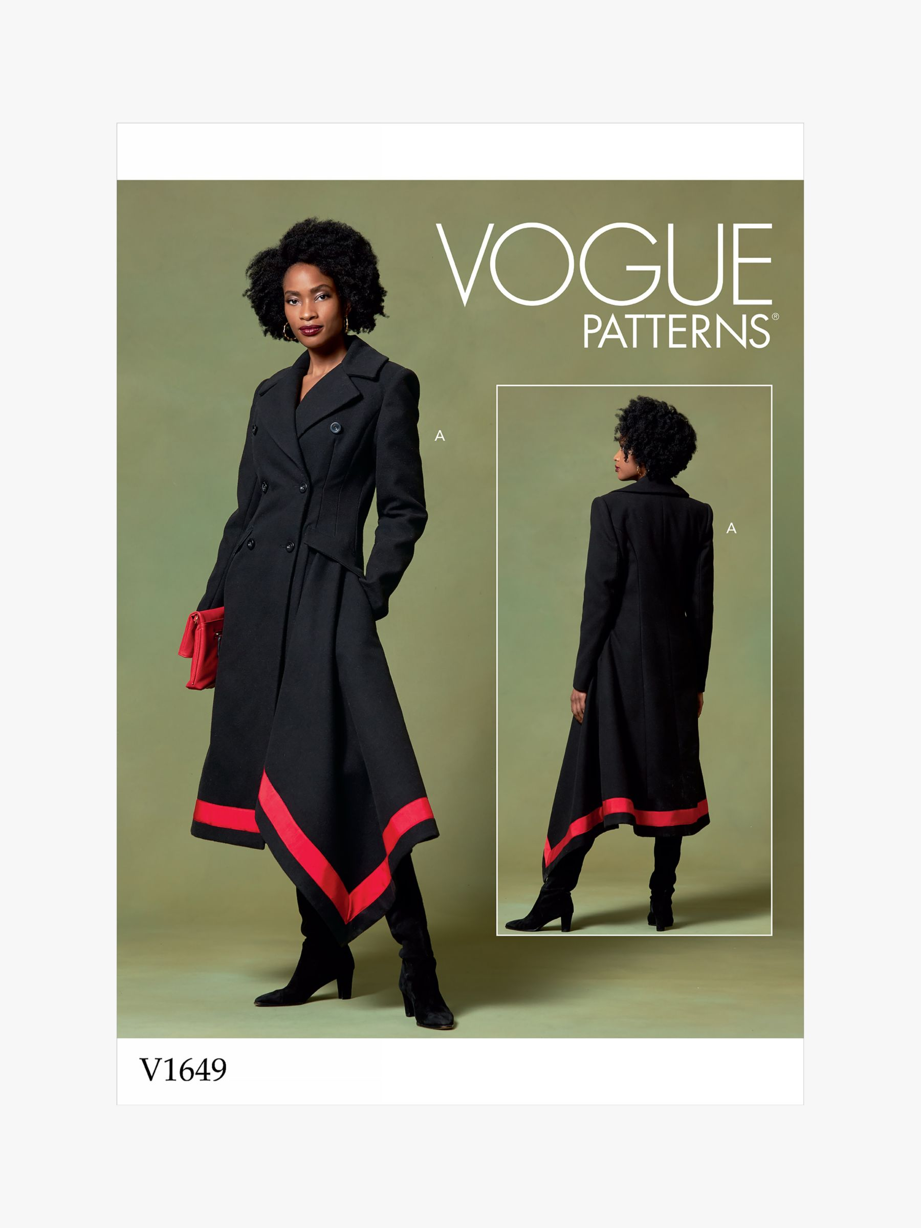 Vogue Vogue Women's Coat Sewing Pattern, 1649