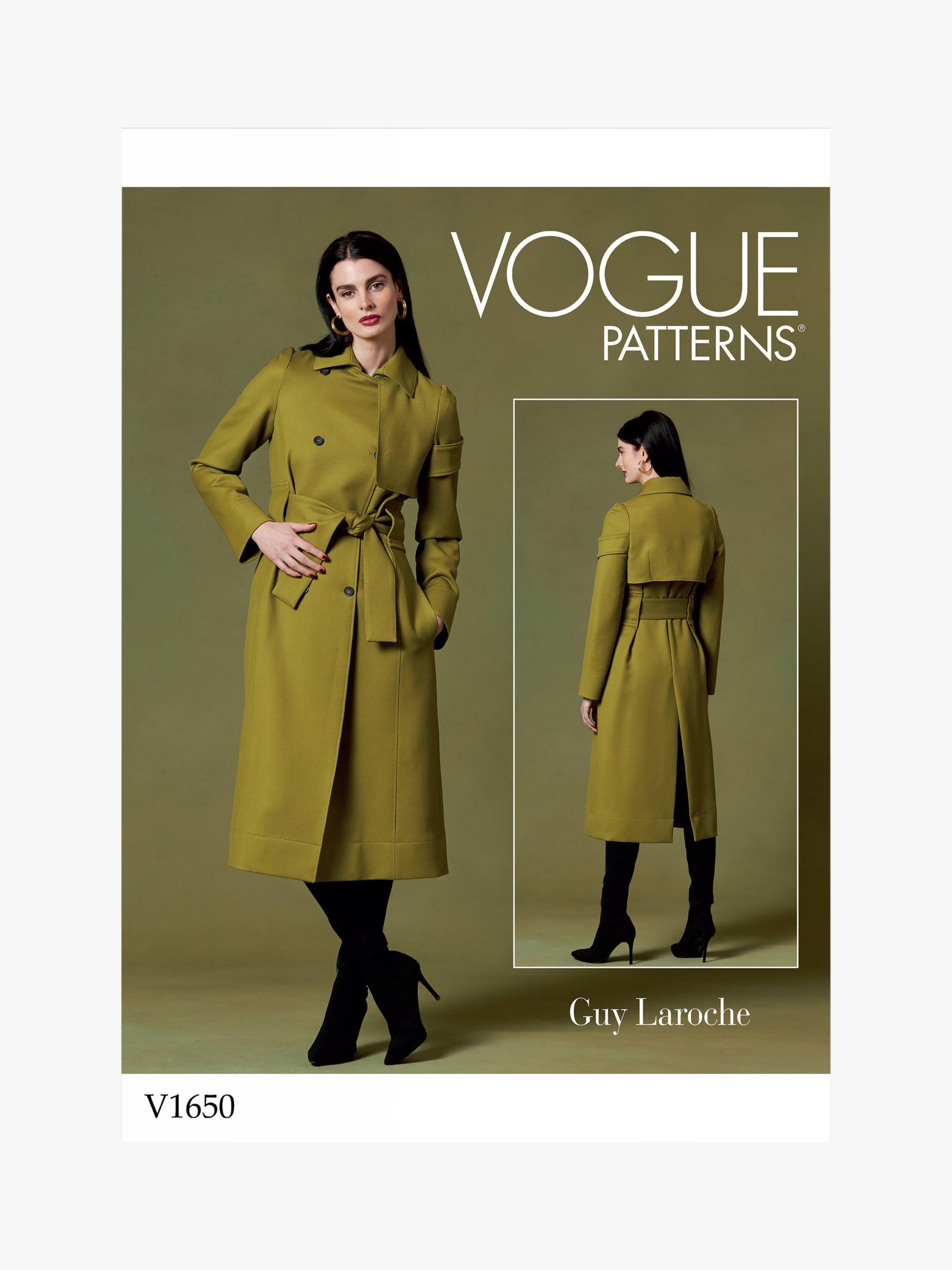Vogue Vogue Women's Coat Sewing Pattern, 1650