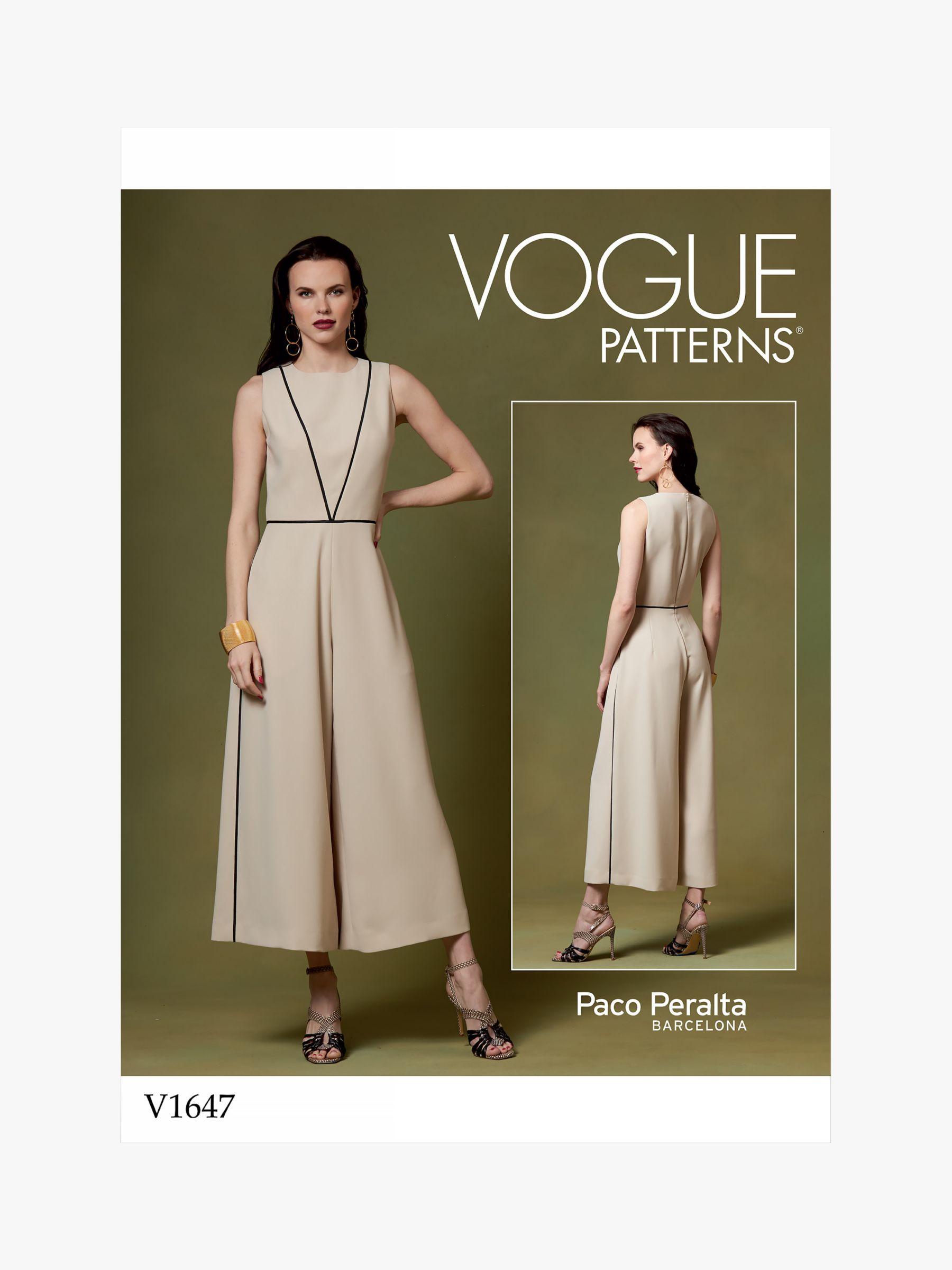 Vogue Vogue Women's Jumpsuit Sewing Pattern, 1647