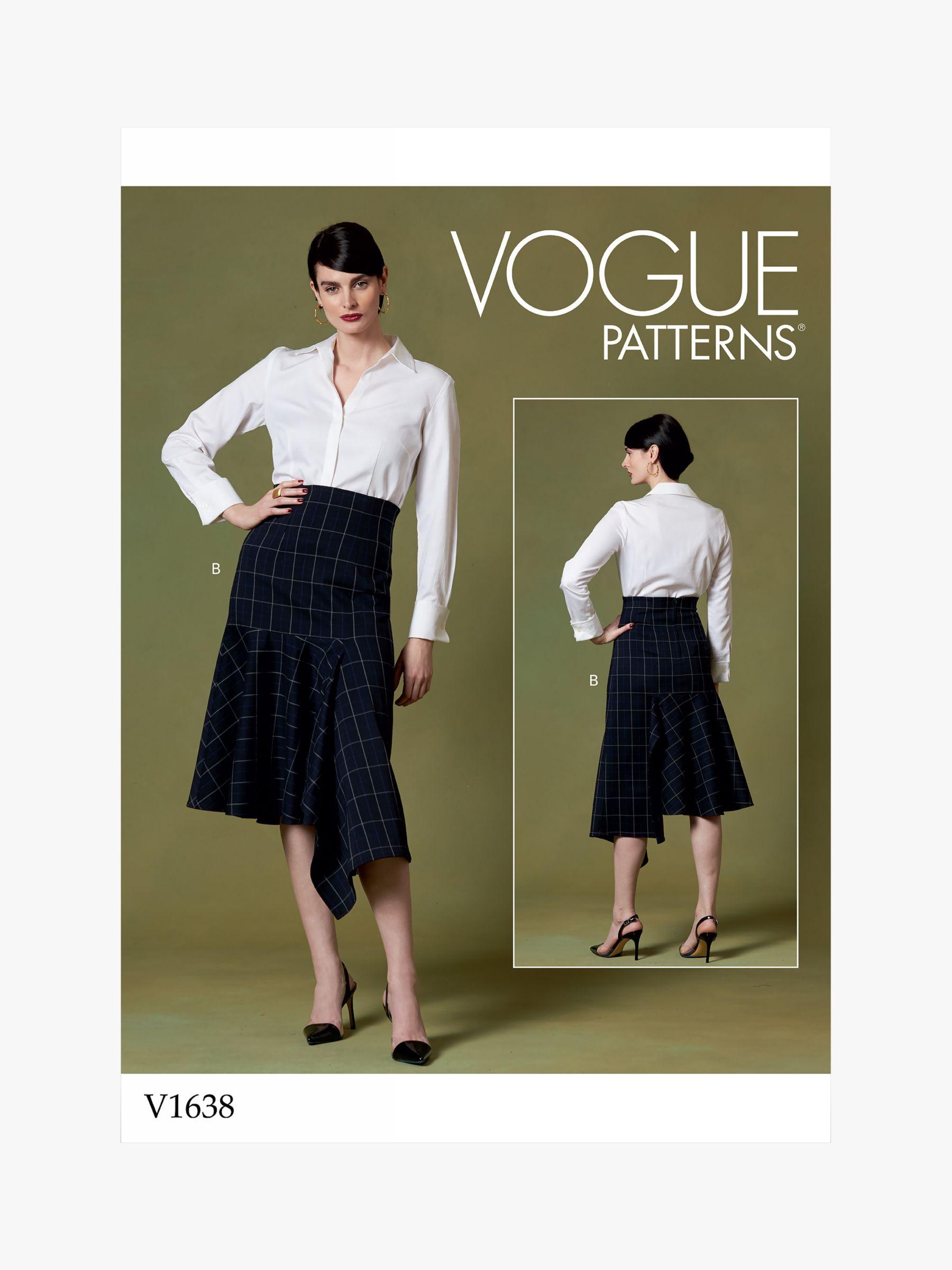 Vogue Vogue Women's Skirt Sewing Pattern, 1638