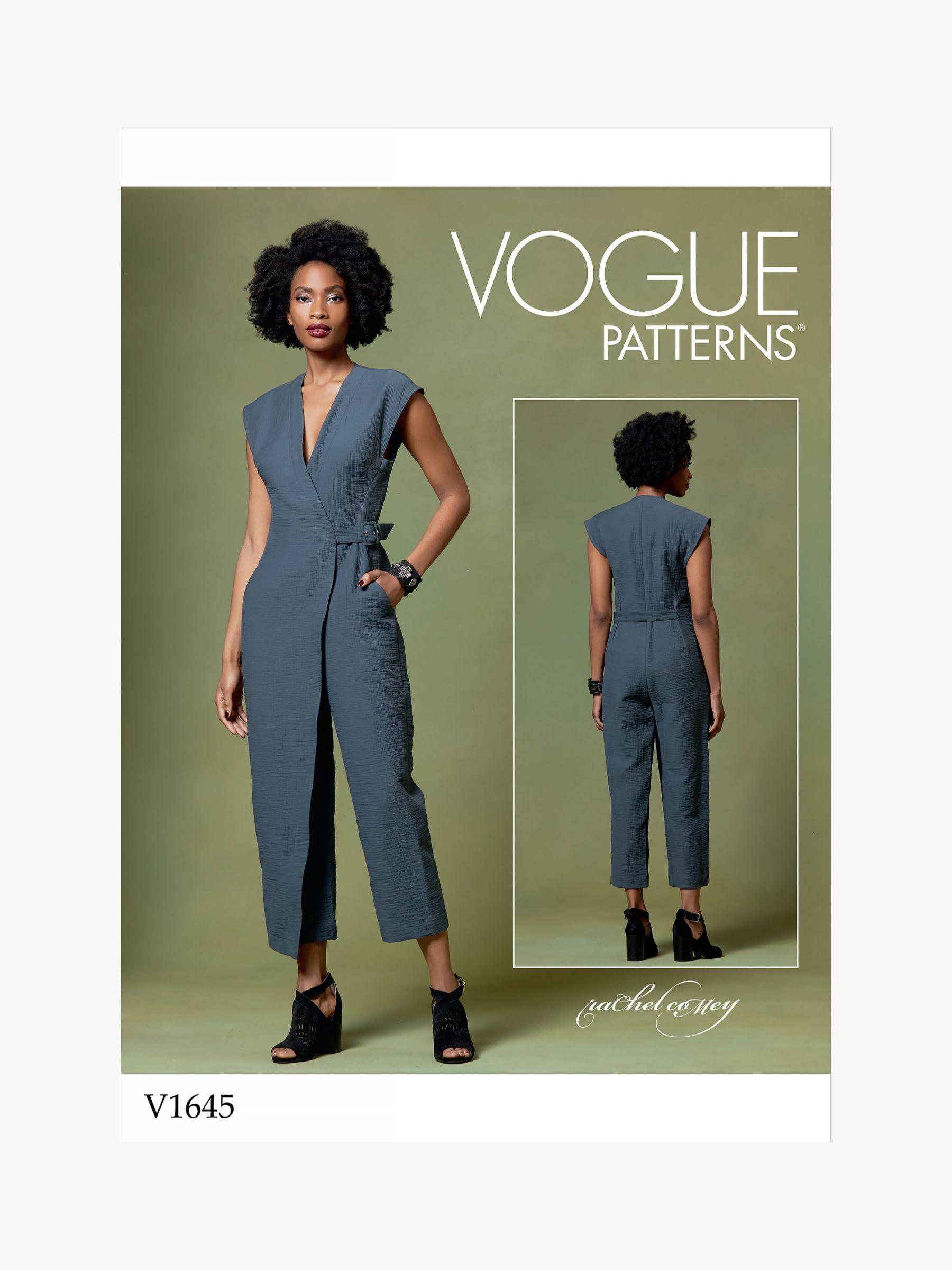 Vogue Vogue Women's Jumpsuit Sewing Pattern, 1645
