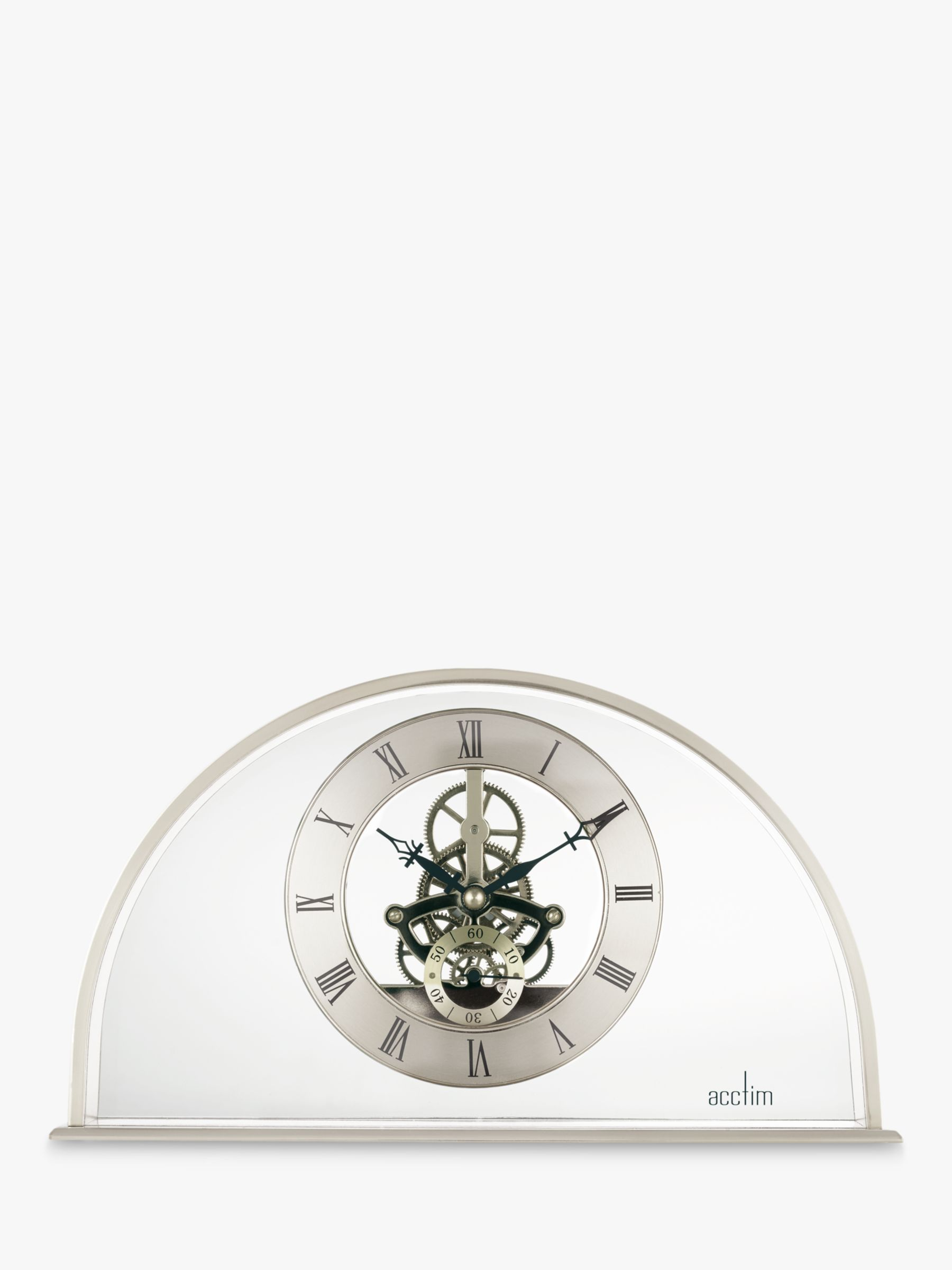 Acctim Acctim Hughenden Skeleton Mantel Clock, W24cm, Silver