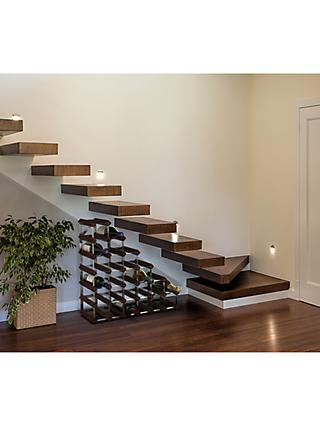 RTA Freestanding Wood Wine Rack, 27 Bottle, Dark Pine