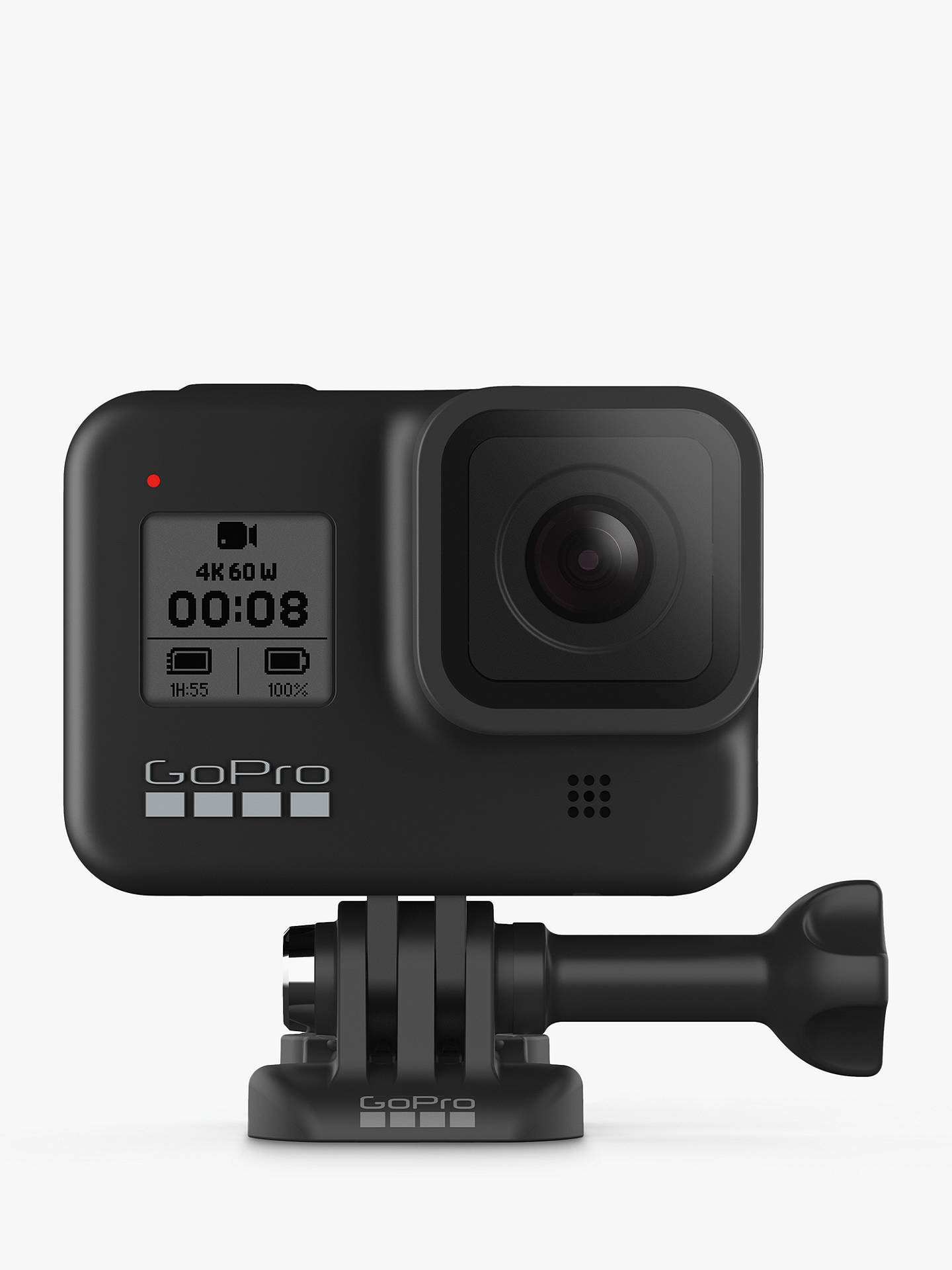Buy GoPro HERO8 Black Camcorder, 4K Ultra HD, 60 FPS, 12MP, Wi-Fi, Waterproof, GPS, Bundle with Shorty Grip, Head Strap Mount, SD Card & Additional Battery Online at johnlewis.com
