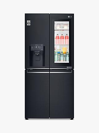 LG GMX844MCKV Slim French Door Freestanding 60/40 Fridge Freezer with Water and Ice Dispenser,  A++ Energy Rating, Black