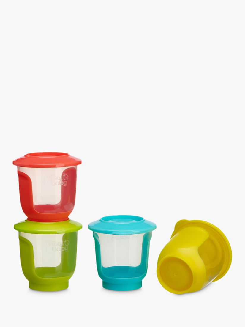 Vital Baby Vital Baby Nourish Store and Wean Pots, Pack of 4, 120ml