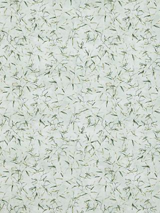 Oddies Textiles Leaf Print Fabric, Light Grey