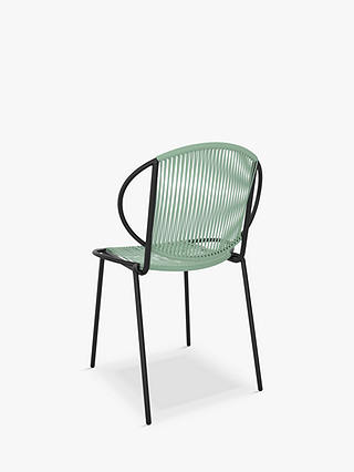 Buy John Lewis & Partners Ellipse 2-Seat Garden Bistro Table & Chairs, Black/Dusty Green Online at johnlewis.com
