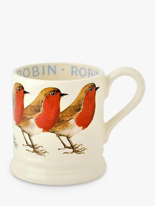 Emma Bridgewater Robin Half Pint Mug, Red/Multi, 280ml