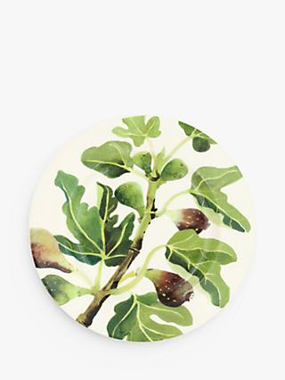 Emma Bridgewater Vegetable Garden Figs Plate, 22cm, Green/Multi