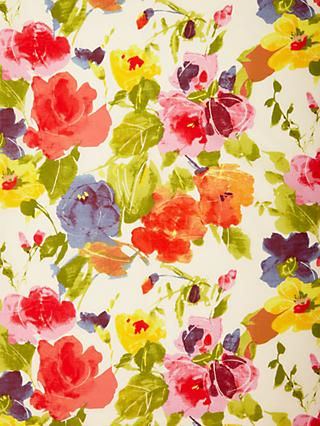 Spendlove Large Bright Flowers Print Fabric, Multi