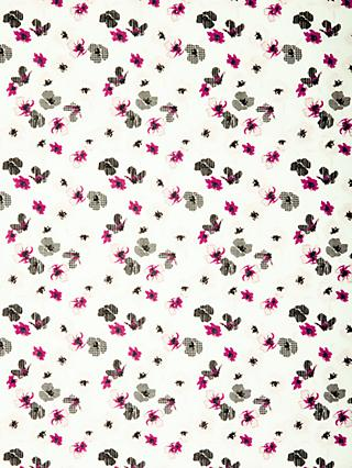 Spendlove Dogtooth Petal Print Fabric, White/Pink