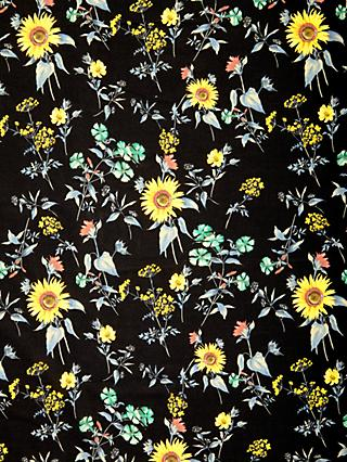 Spendlove Sunflower Garden Print Fabric, Black