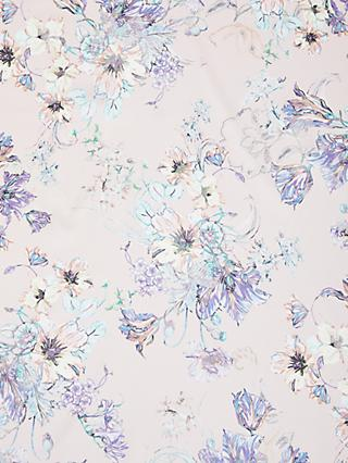 Spendlove Lilac Line Drawn Print Fabric, Pink