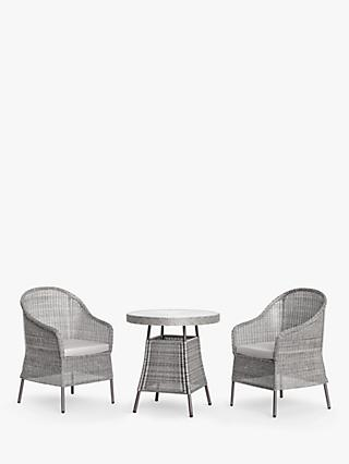 John Lewis & Partners Hoxton 2-Seat Garden Bistro Table & Chairs, Grey