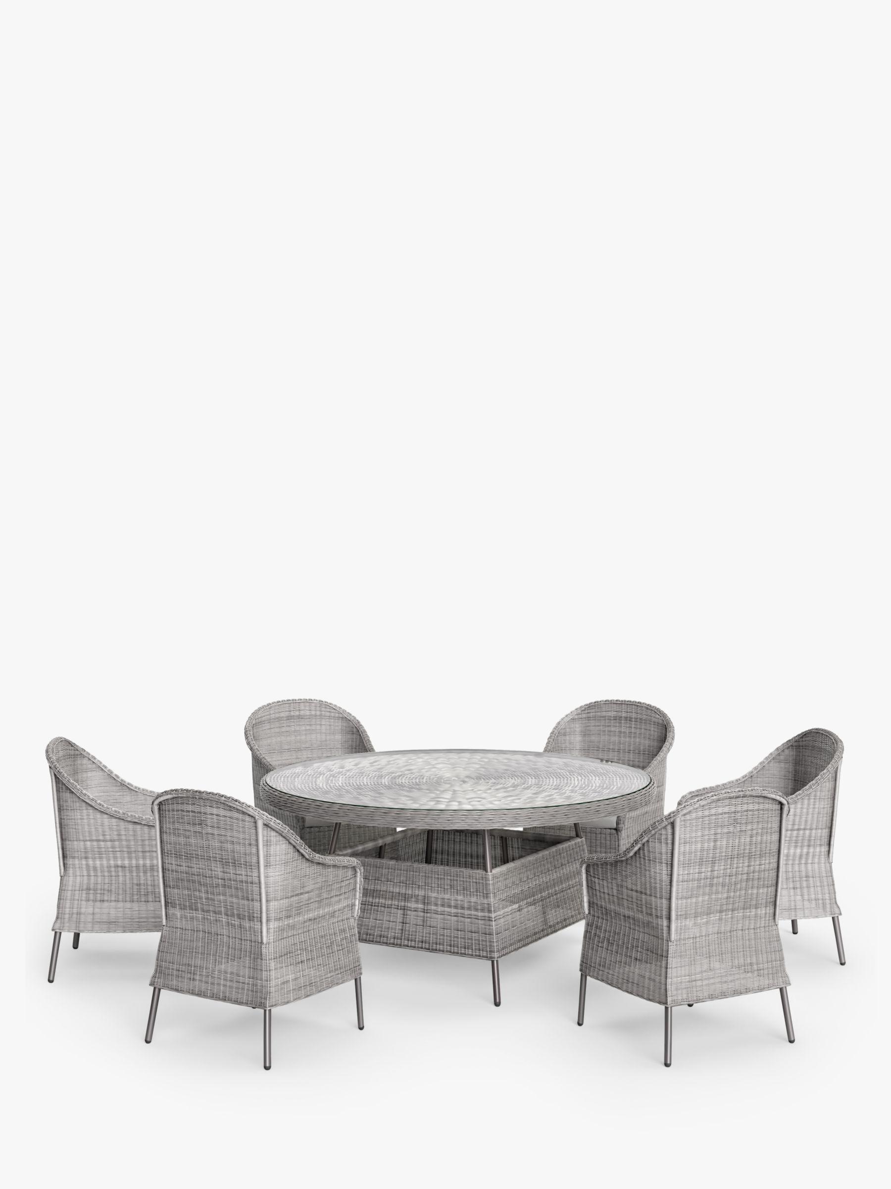 John Lewis & Partners Hoxton 9 Seat Round Garden Dining Table ...