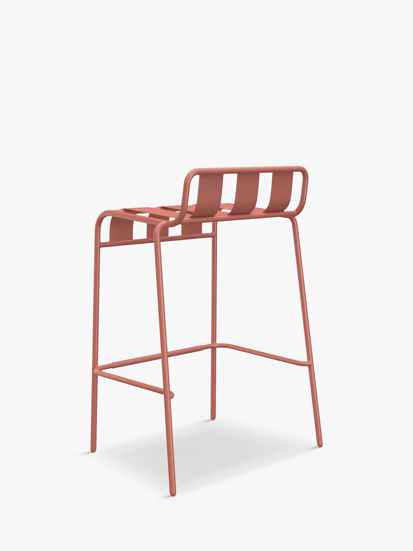 Buy John Lewis & Partners Marble-Effect Garden Bar Table & 2 Stools, Black/Terracotta Online at johnlewis.com