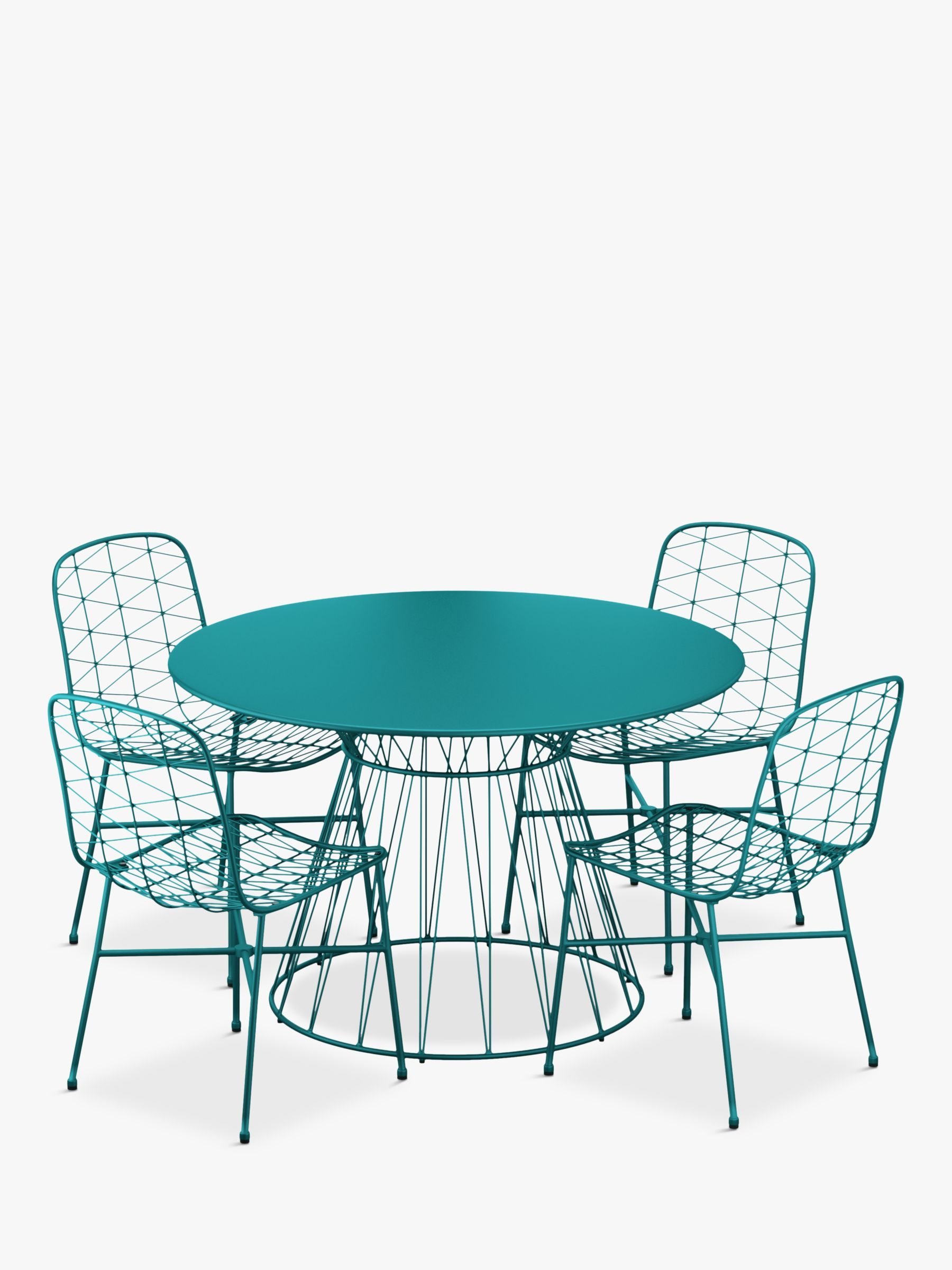 John Lewis & Partners Ray 4 Seat Garden Table & Chairs Set