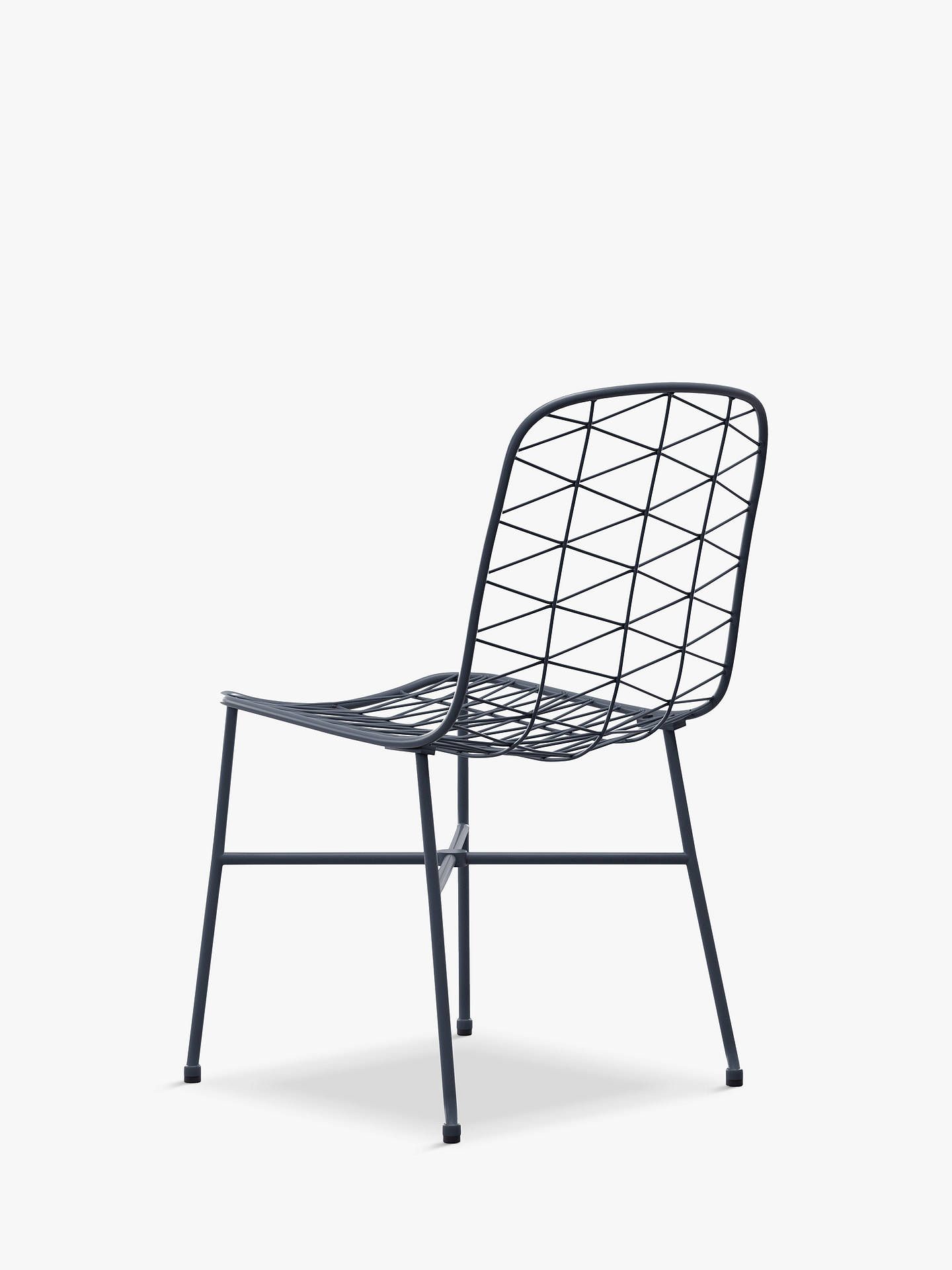Buy John Lewis & Partners Ray 4-Seat Garden Table & Chairs Set, Charcoal Grey Online at johnlewis.com