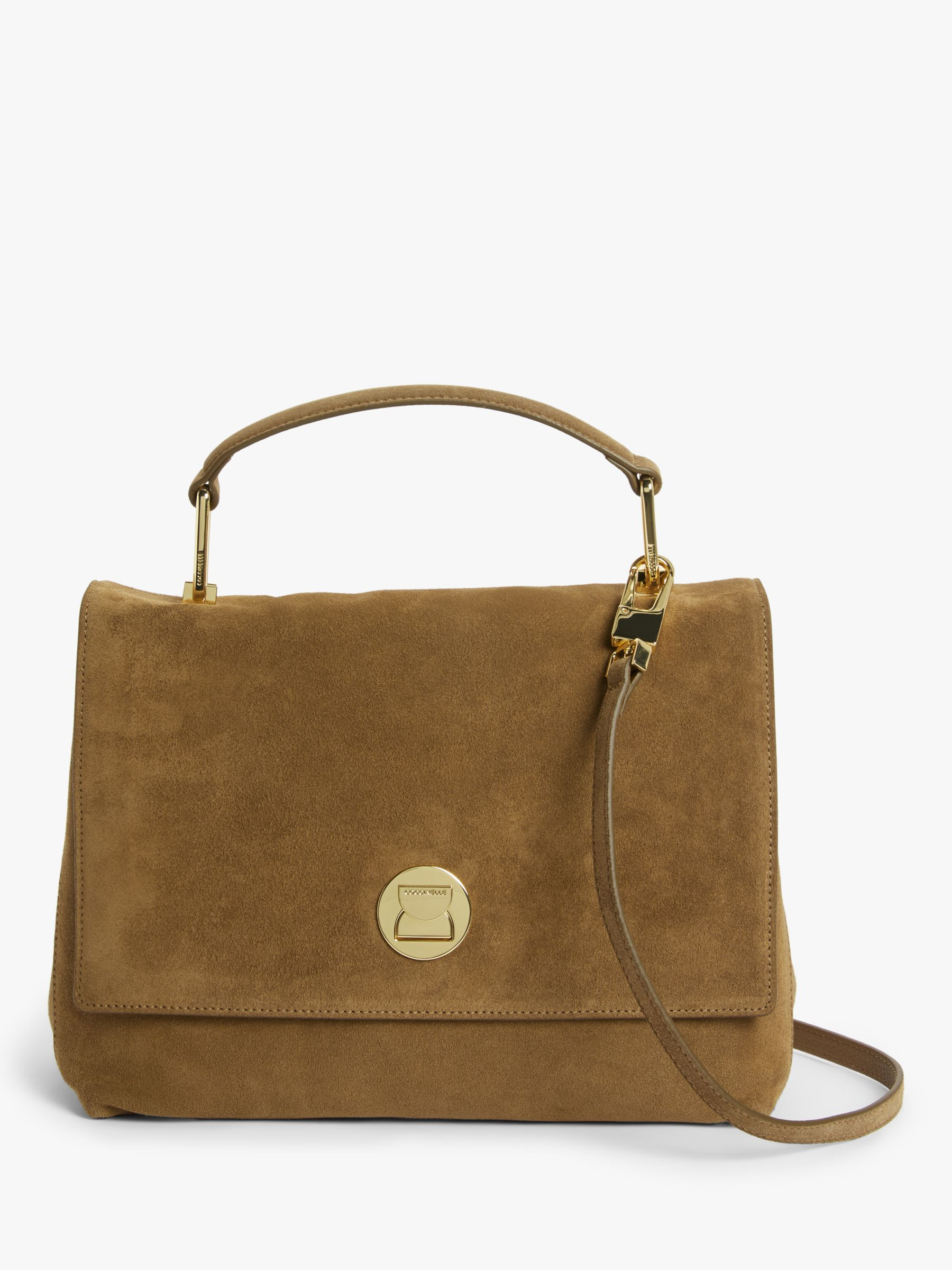 Coccinelle Coccinelle Liya Iconic Suede Shoulder Bag