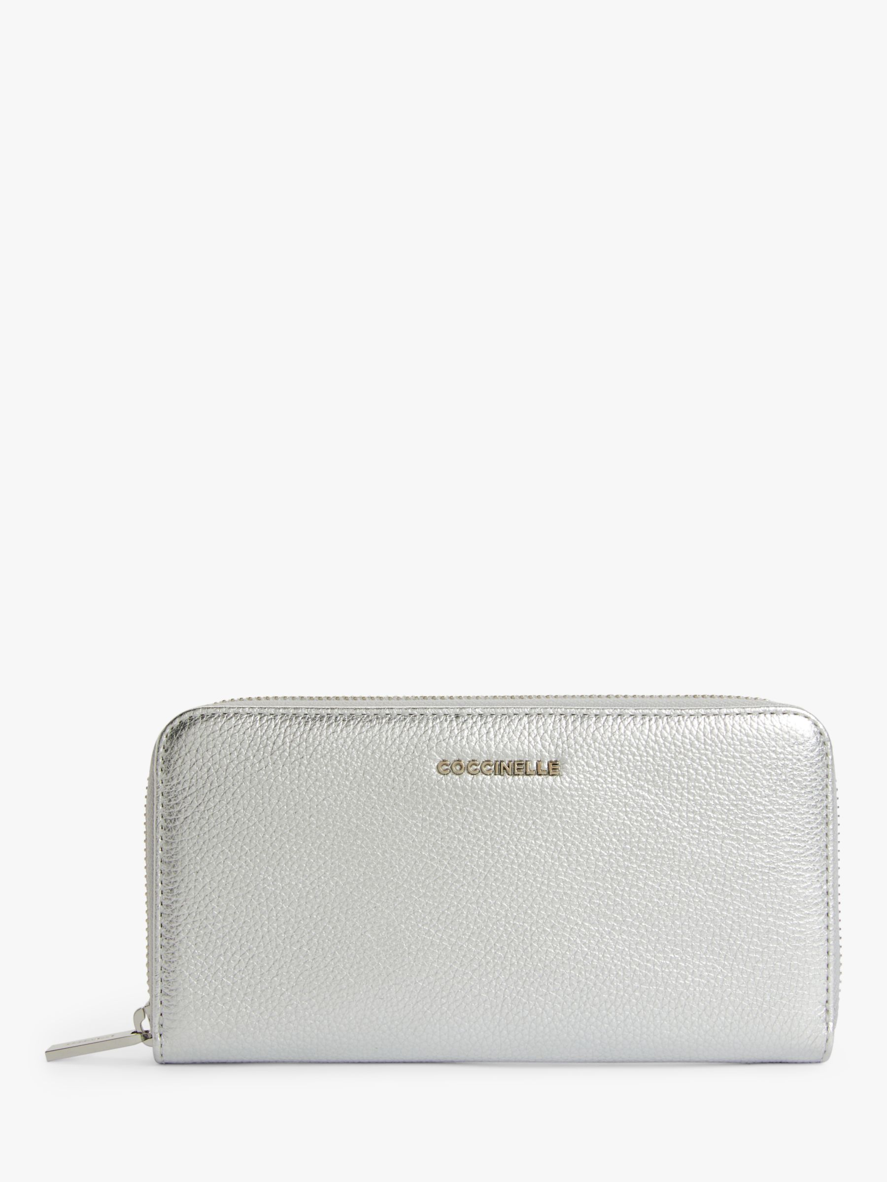 Coccinelle Coccinelle Metallic Zip Around Soft Leather Purse