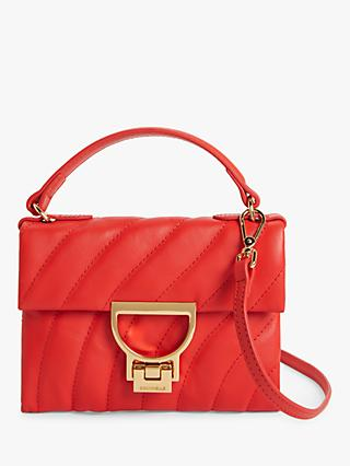 Coccinelle Mignon San Valentino Leather Cross Body Bag, Red