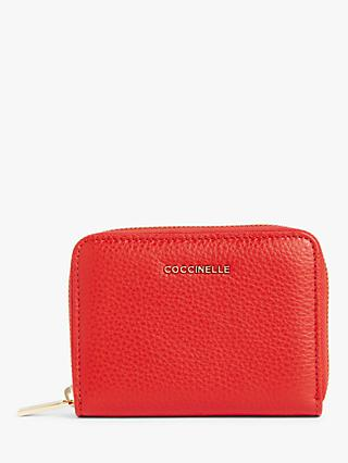 Coccinelle Metallic Small Soft Leather Purse
