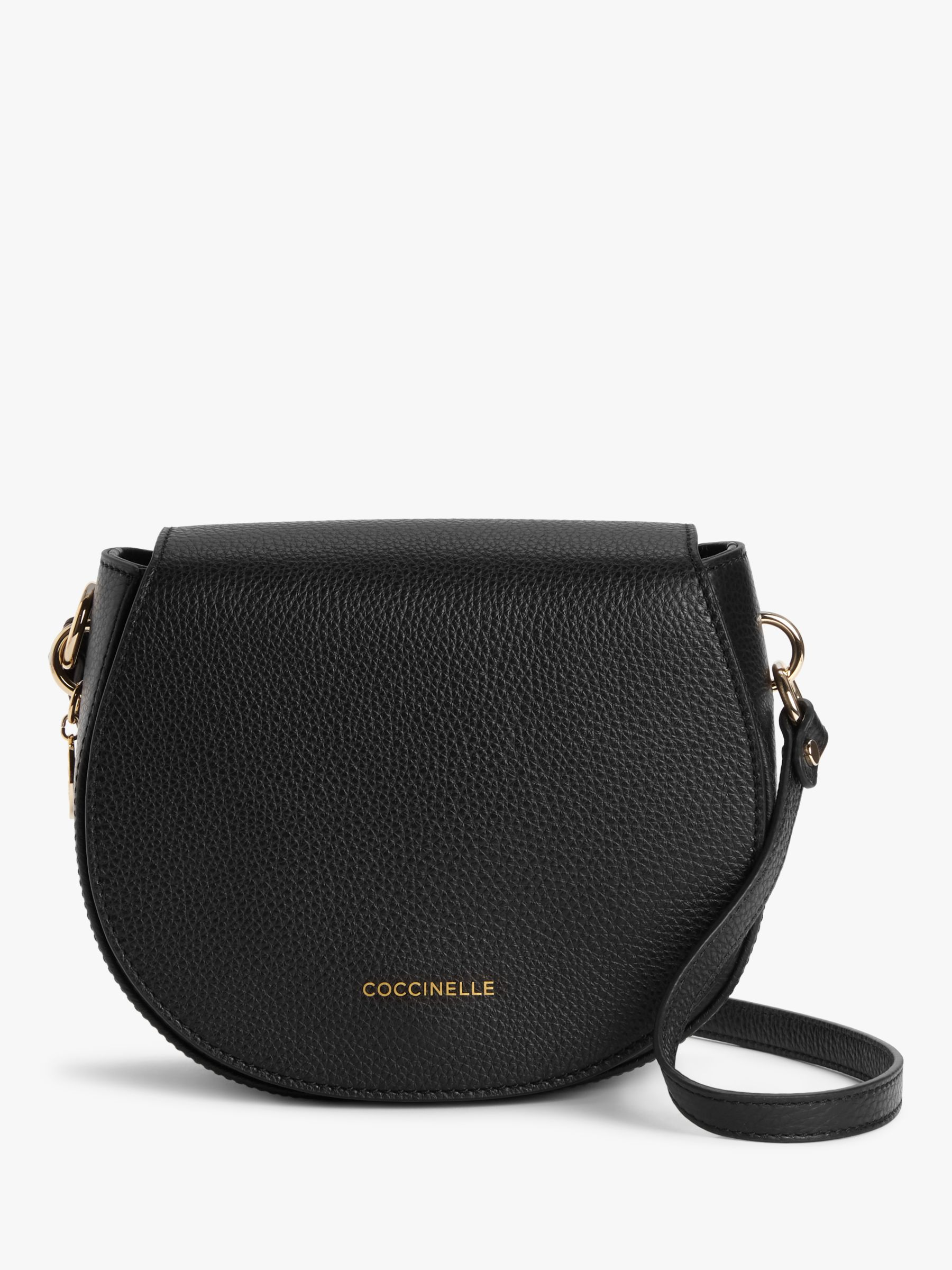 Coccinelle Coccinelle Alpha Leather Round Cross Body Bag, Black