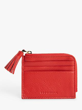 Coccinelle Tassel Leather Card Holder
