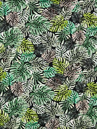 Oddies Textiles Cheese Plant Leaf Print Fabric, Green/Multi
